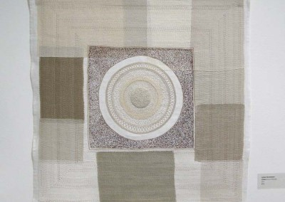 "Lynne Hermanson ""Untitled (brown threads)"" 2014; $995"