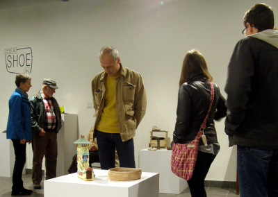 It's A Shoe In exhibition reception