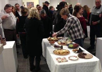 Guests enjoy the Dimensions Opening Reception in Affinity Gallery.