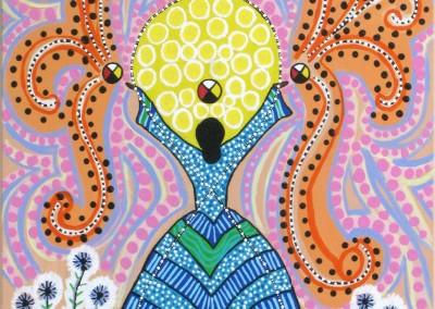 """Leah Marie Dorion """"Infinity"""" 2005; Acrylic on canvas; NFS"""