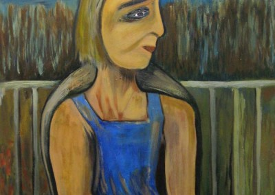 "Vijay Kachru ""Woman in Blue Dress"" 2012; $325"