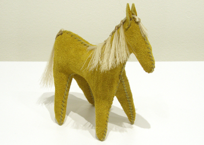 Plains Leather Horse Doll (Kathleen & Jeffrey Coleclough), 2014: Leather, horse hair; hand sewn. $56