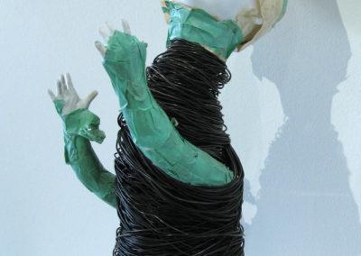 Speculate (Laura Hosaluk, Saskatoon, SK, Canada), 2014: Porcelain, wood, paper, tape. $900.