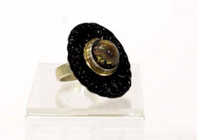 "Shauna Mitru ""Fire Opal Ring"" 2013; $250"
