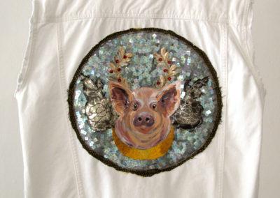 Individuation: Foie Mas (Elizabeth Munro), 2017: Fibre, sequins, acrylic paint, beads; embroidery, beading, painting. NFS