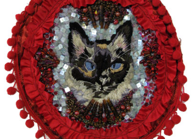 Individuation: Naiveté Nativity (Elizabeth Munro), 2014: Fibre, sequins, and beads; embroidery, beading. NFS