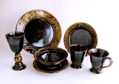 Untitled (Judy Tryon), 2015: Stoneware, glazes, ash glaze. $275. Not For Sale.