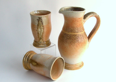 Pitcher and Tumblers (Shirley Carriere), 2014: Stoneware. $200.
