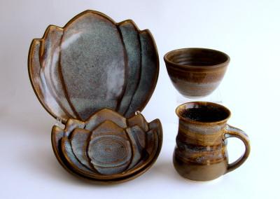 Winter Garden Place Setting (Elaine Friesen), 2015: Stoneware, glazes. $95. Not For Sale.