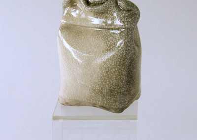 Hiver (Louise Roy), 1980: Porcelain, glazes. $100. Not For Sale.