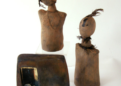 The Burn (Olive Kalapaca), 1978: Clay, found objects. $150. Not For Sale.