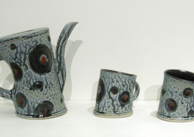 Loops (Judy Tryon), 2015: Stoneware, glazes, slips. $325.