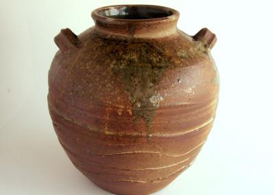 Vase (Eli Fernandez), 2014: Stoneware, Flashing slip, liner glazes, fly ash. $500.