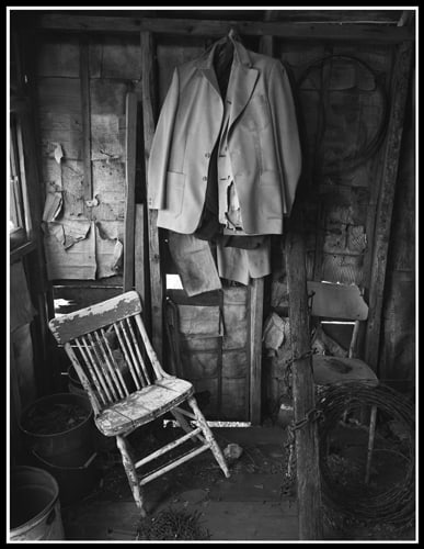 Jackets and Chair (Robert S. Michiel), 2012: Analog photography. Not for sale.