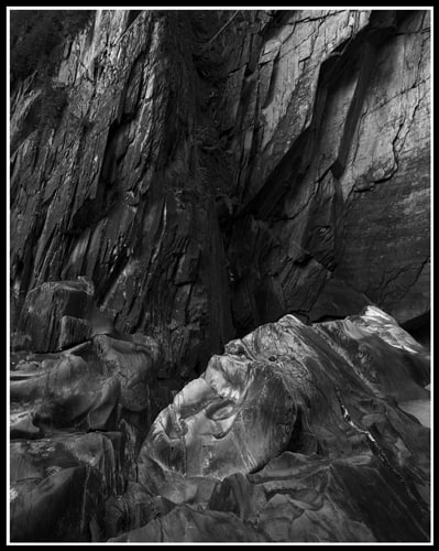 Rock Face and Face of Rock (Robert S. Michiel), 2012: Analog photography. Not for sale.