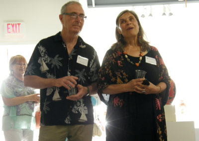 Artists Ray Mackie & Deb Kuzyk saying a few words at the opening reception