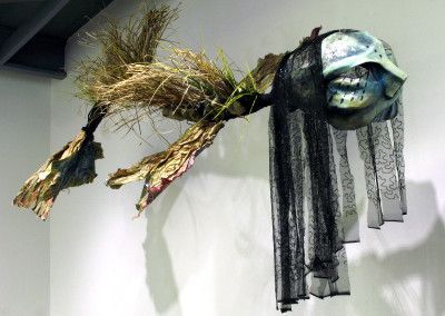 Sedna (Sherron Burns): Papier mache, mixed media, natural grasses. Not for sale.