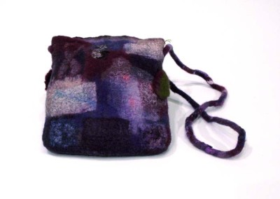 "Donna Stockdale ""Shoulder Bag - Burgundy/Purple"" 2014; $149"