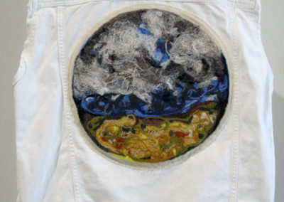 God's Country (Jill A. Waldron), 2016: Cotton, wool; needle felting. $300