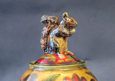 16. Squirrel Jar (Debra Kuzyk and Ray Mackie), 2016: Cone 6 porcelain. $850