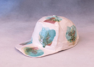 71. Ball Cap (Ray Mackie), 2016: Cone 6 porcelain. $250.