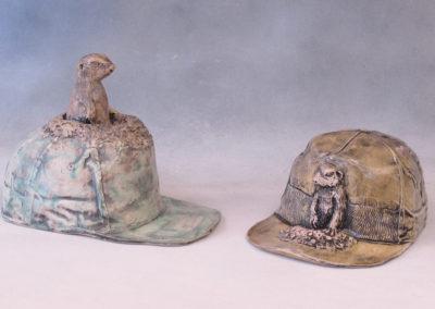 65. 69. Ball Caps (Ray Mackie), 2016: Cone 6 porcelain. $250 each.
