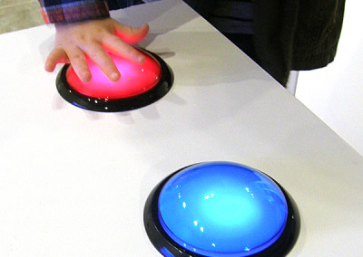 Reception: big buttons for small hands.