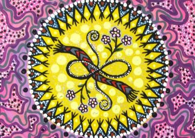 "Leah Marie Dorion ""Community of Métis Women"" 2010; Acrylic on canvas; NFS"