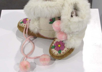 """Girl's Beaded Mukluks"" Leah Dorion Collection, Worn by Isabella Sinclair"