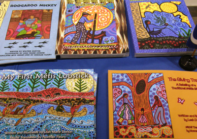 Detail of some of Leah Dorions books