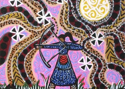 "Leah Marie Dorion ""Target Practice"" 2011; Acrylic on canvas; NFS"