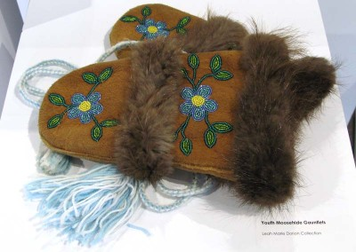"""Youth Moose Hide Gauntlets"" Leah Dorion Collection"