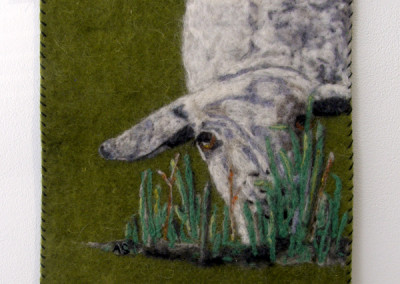 Hey Ewe, In the Grass… (Arlette Seib), 2013: 100% wool; needle felted. $135