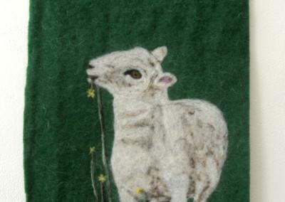 Little Lamb (Arlette Seib), 2013: 100% wool; needle felted. NFS