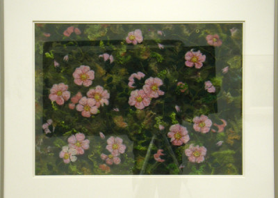 Wild Roses (Elizabeth Muirhead), 2013: Shetland and Merino wool, mohair curly locks, wool yarn, thread, beads; needle felting, hand stitching, machine felting. $550