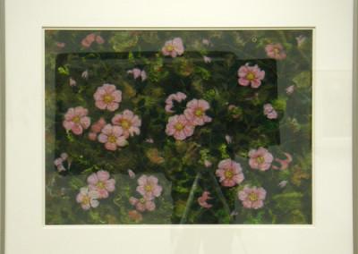 Wild Roses (Elizabeth Muirhead), 2013: Shetland and Merino wool, mohair curly locks, wool yarn, thread, beads; needle felting, hand stitching, machine felting. $550