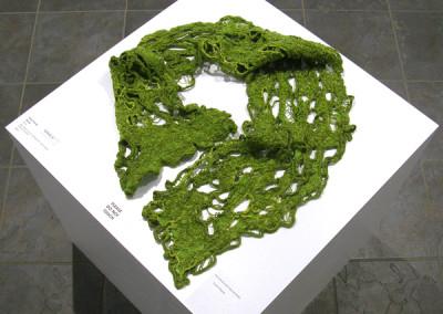 Spring (Gwen Klypak), 2014: Silk, Merino wool; handwoven, hand dyed, felting, crochet. $400