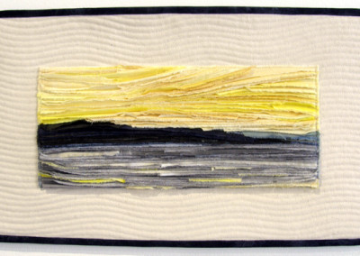 The Ice That Hid the Sky (Heather Lair), 2013: Cotton fabric; qulted, appliqué, hand painted, hand dyed. NFS