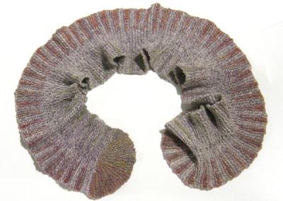 Crocus and Prairie Smoke (Judy Haraldson), 2011: Merino wool, glass beads; hand spinning and hand knitting. NFS
