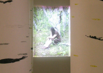 Somewhere, Anywhere, Everywhere, But Never Nowhere (Rowan Pantel), 2013: UV Silkscreen on Mulberry, video projection. $2,000