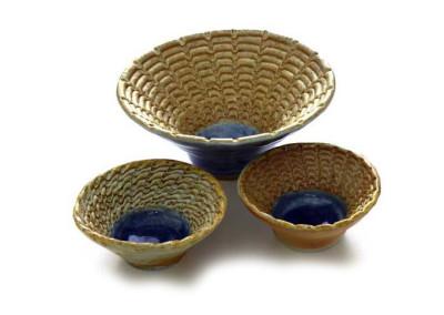 Cara Driscoll - hand coiled ceramic bowls