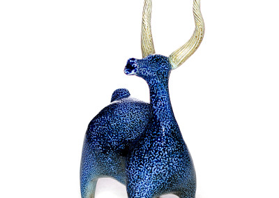 Paula Cooley - ceramic salt fired Stag