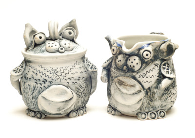 Wendy Parsons - ceramic monster cream and sugar set