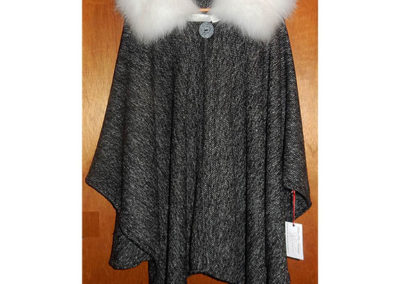 Arctic Fox Collar Tweed Cape