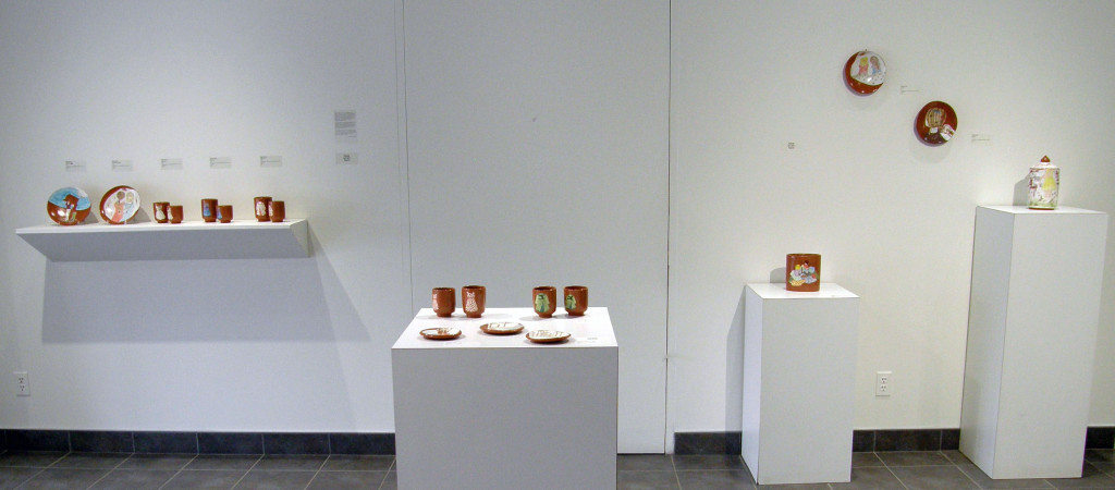 The Narrative Dish was an exhibition in Affinity Gallery in April & May 2015. It featured 6 ceramic artists, and was curated (and proposed) by Carole Epp.