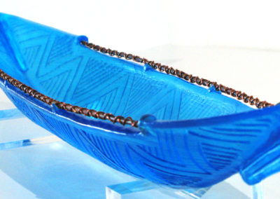 Manaia Canoe NZ (Shona Firman, Whangarei, Northland, New Zealand), 2016: Gaffer 40% lead crystal; cast glass. $1,700.