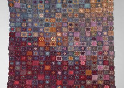 HeartFelt Grannies (Susan Kargut), 2016: Wool, alpaca, silk, felted wool fabric, embroidery floss; crochet. Sold.