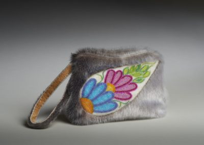 "Award for Excellence in Fine Craft ($300): ""Beaded Sealskin Clutch Bag"" Marcy Bast, Regina. Award sponsored by: Artisans' Craft Market Co-operative."