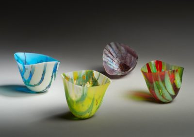 "Award for Excellence in Glass ($300): ""Seasons"" Kimberley Dickinson, Saskatoon. Award sponsored by: Saskatoon Glassworkers' Guild."