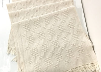 Household Linens - 4 Placemats (Malcolm Benson-Dyke), 2017: 2/8 Cotton – Natural; plain weave with floats. NFS